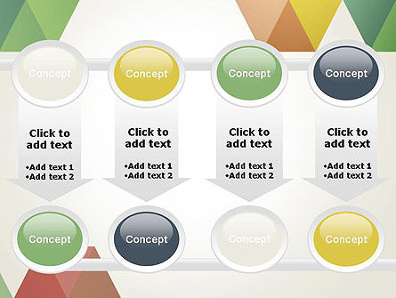 Modern Elegant Colorful Triangle Shapes PowerPoint Template Slide 18
