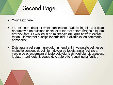 Modern Elegant Colorful Triangle Shapes PowerPoint Template, Slide 2, 12505, Abstract/Textures — PoweredTemplate.com