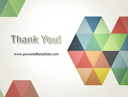 Modern Elegant Colorful Triangle Shapes PowerPoint Template Slide 20