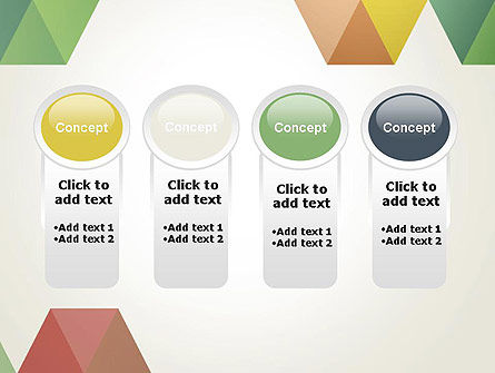 Modern Elegant Colorful Triangle Shapes PowerPoint Template Slide 5