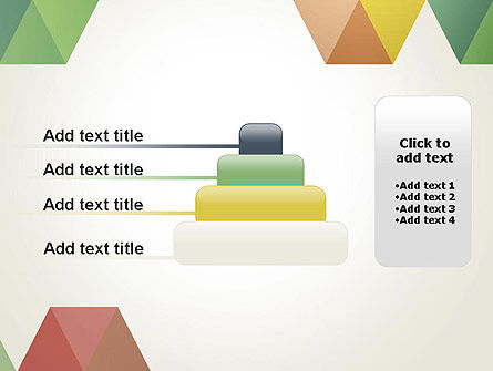 Modern Elegant Colorful Triangle Shapes PowerPoint Template Slide 8