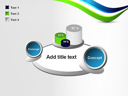 Green and Blue Waves PowerPoint Template Slide 16