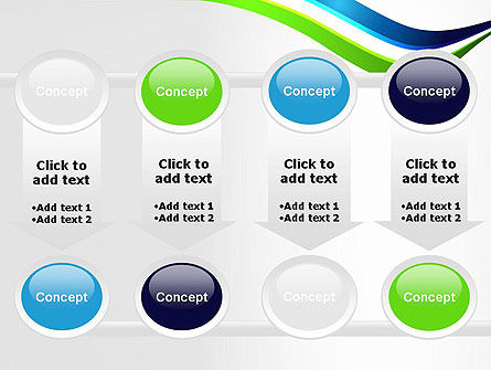 Green and Blue Waves PowerPoint Template Slide 18