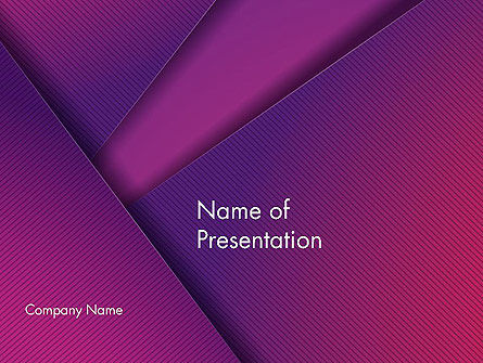 Stylish Purple PowerPoint Template