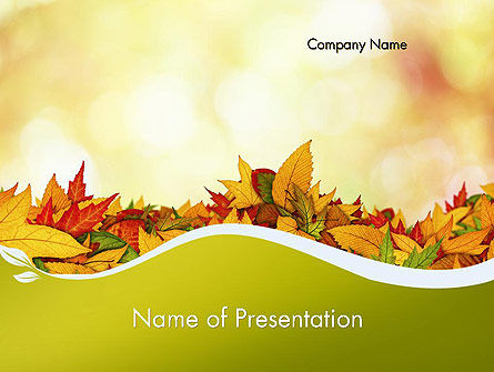Nature & Environment: Templat PowerPoint Karpet Daun Yang Gugur #12509