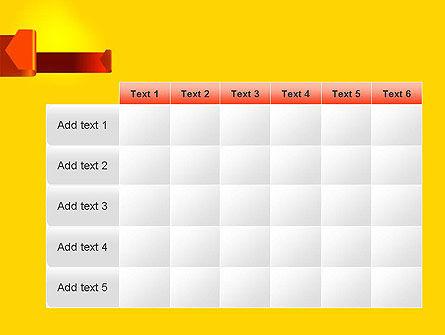 Folded Arrows PowerPoint Template Slide 15