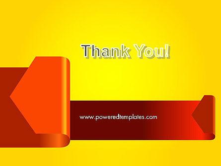 Folded Arrows PowerPoint Template Slide 20