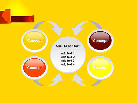Folded Arrows PowerPoint Template Slide 6