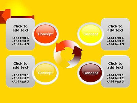 Folded Arrows PowerPoint Template Slide 9