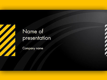 Business: Cool Black Orange Theme PowerPoint Template #12514