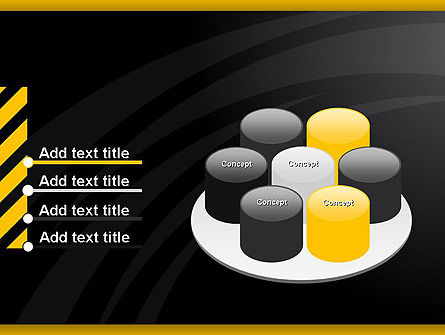 Cool Black Orange Theme PowerPoint Template Slide 12