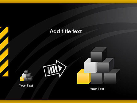 Cool Black Orange Theme PowerPoint Template Slide 13