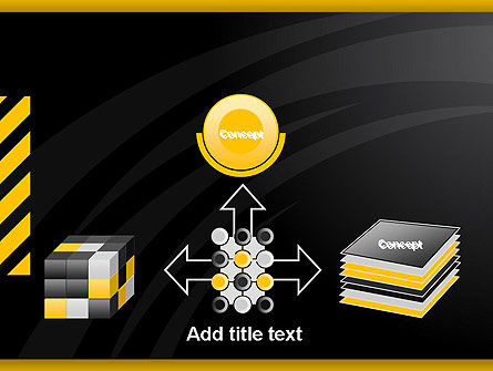 Cool Black Orange Theme PowerPoint Template Slide 19