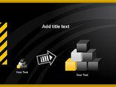 Cool Black Orange Theme PowerPoint Template#13