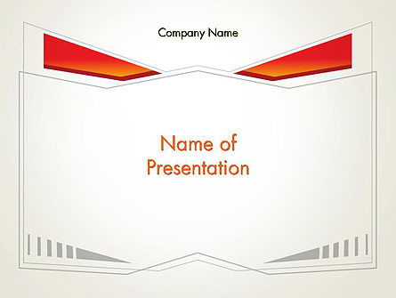 Abstract/Textures: Abstract Broken Frame PowerPoint Template #12515