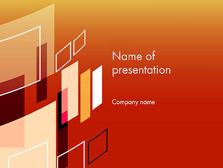 Abstract Floating Rectangles PowerPoint Template