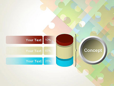 Abstract Floating Puzzle Pieces PowerPoint Template Slide 11