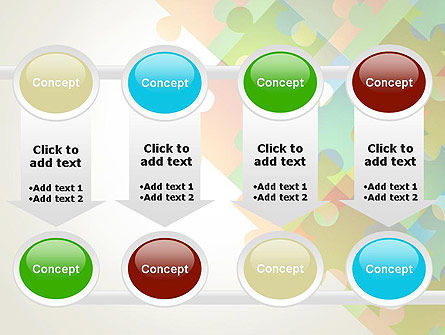 Abstract Floating Puzzle Pieces PowerPoint Template Slide 18