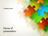 Abstract/Textures: Abstract Floating Puzzle Pieces PowerPoint Template #12519