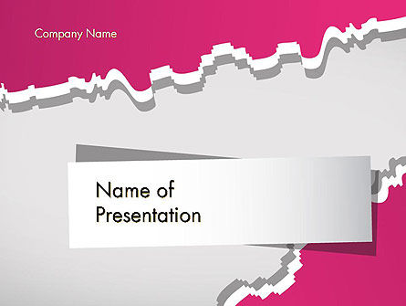 Cutted Out Piece of Paper PowerPoint Template, 12520, Abstract/Textures — PoweredTemplate.com