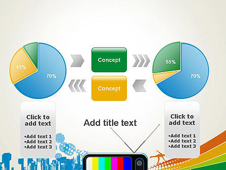 Online TV Concept PowerPoint Template Slide 16