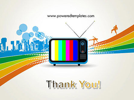 Online TV Concept PowerPoint Template Slide 20