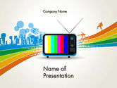 Careers/Industry: Online TV Concept PowerPoint Template #12521