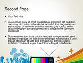 Online TV Concept PowerPoint Template#2