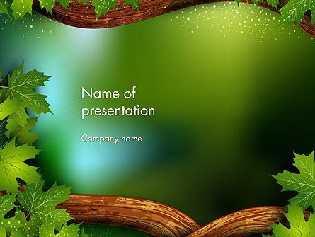 Forest Tale PowerPoint Template, 12523, Education & Training — PoweredTemplate.com