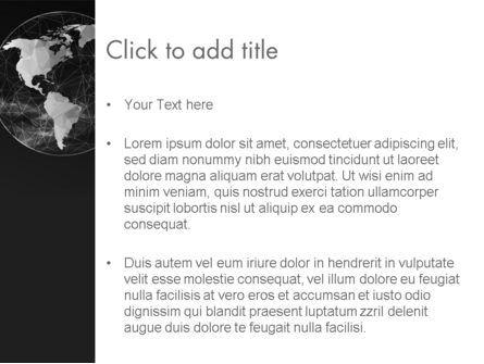 Polygonal World Map PowerPoint Template, Slide 3, 12524, Global — PoweredTemplate.com