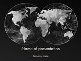 Global: Modèle PowerPoint de carte du monde polygonal #12524