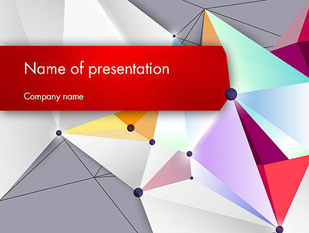 Abstract Polygonal Background PowerPoint Template, 12525, Abstract/Textures — PoweredTemplate.com