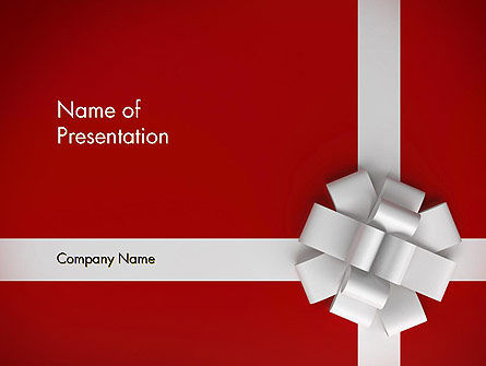 Holiday/Special Occasion: Gift Theme PowerPoint Template #12526