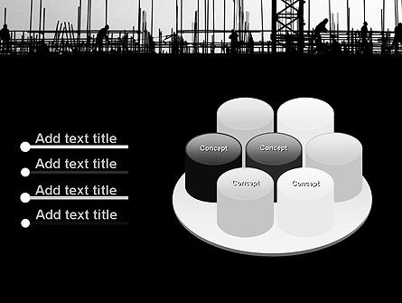 Construction Workers Silhouettes PowerPoint Template Slide 12