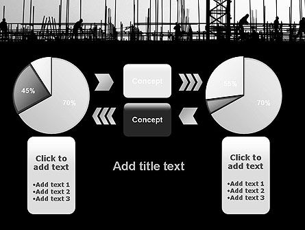 Construction Workers Silhouettes PowerPoint Template Slide 16