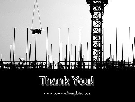 Construction Workers Silhouettes PowerPoint Template Slide 20