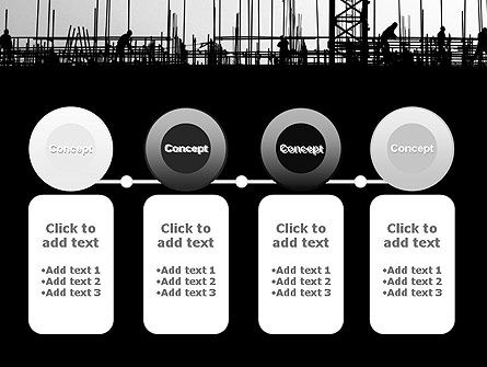 Construction Workers Silhouettes PowerPoint Template Slide 5