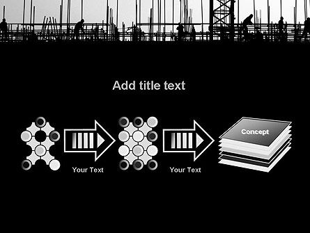 Construction Workers Silhouettes PowerPoint Template Slide 9