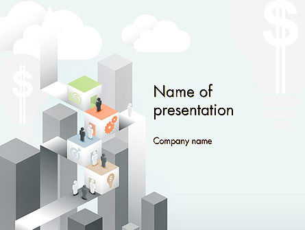 Business Concepts: Building Business Blocks PowerPoint Template #12528