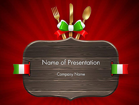 Careers/Industry: Italian Restaurant PowerPoint Template #12533