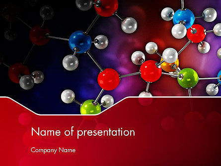 Molecular Computer Model PowerPoint Template, 12536, Technology and Science — PoweredTemplate.com