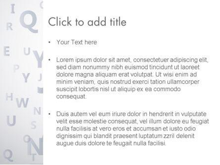 Transparent Letters PowerPoint Template, Slide 3, 12537, Education & Training — PoweredTemplate.com