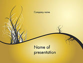 Nature & Environment: Abstract Tree Branch PowerPoint Template #12538