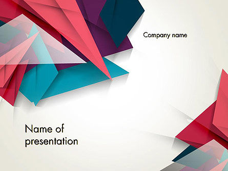 abstract origami powerpoint template backgrounds 12540