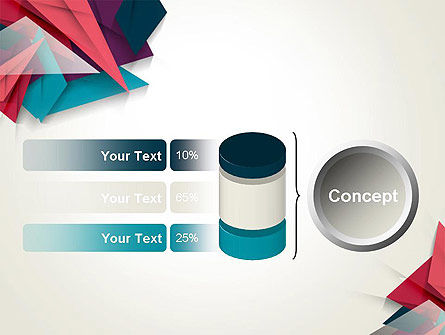 Abstract Origami PowerPoint Template Slide 11
