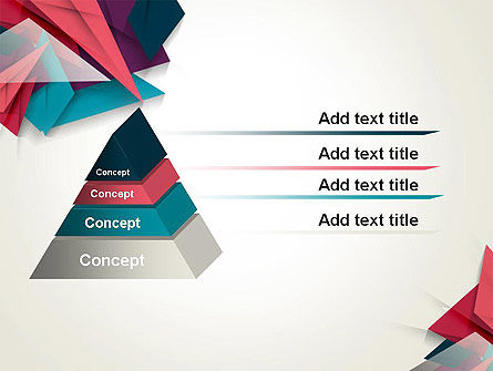 Abstract Origami PowerPoint Template Slide 12