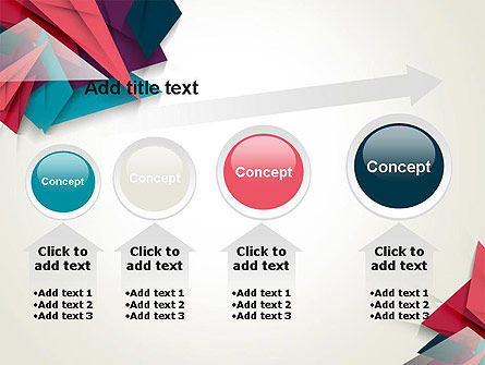 Abstract Origami PowerPoint Template Slide 13