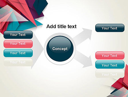 Abstract Origami PowerPoint Template Slide 14