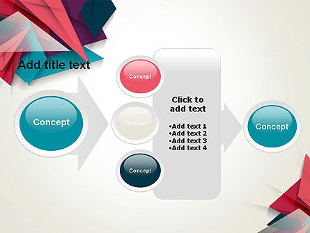 Abstract Origami PowerPoint Template Slide 17