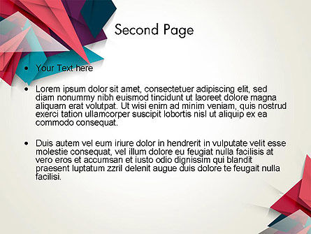 Abstract Origami PowerPoint Template Slide 2